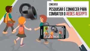 O concurso sugere que o estudante reúna três amigos e um professor para a produção de vídeo que mostre como a comunidade escolar está atuando para prevenir e combater os focos do mosquito (arte: ACS/MEC)